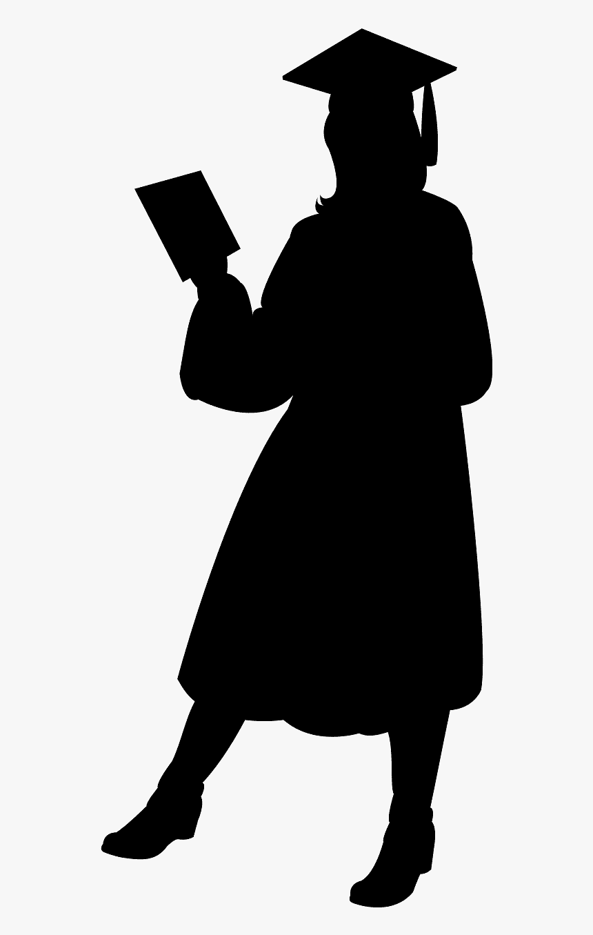 graduate silhouette clipart - 464×1024