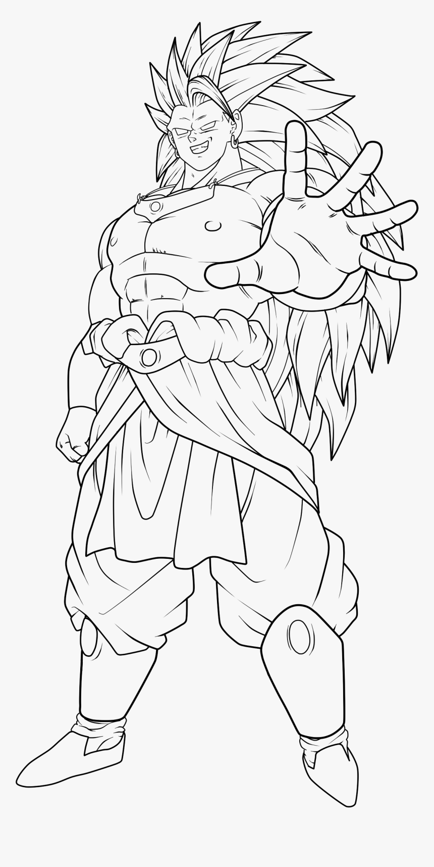 Dragon Ball Coloring Pages Broly