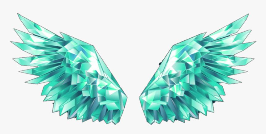 green #blue #crystal #wings #greenwings #green Wings - Crystal Ice Wings,  HD Png Download , Transparent Png Image - PNGitem