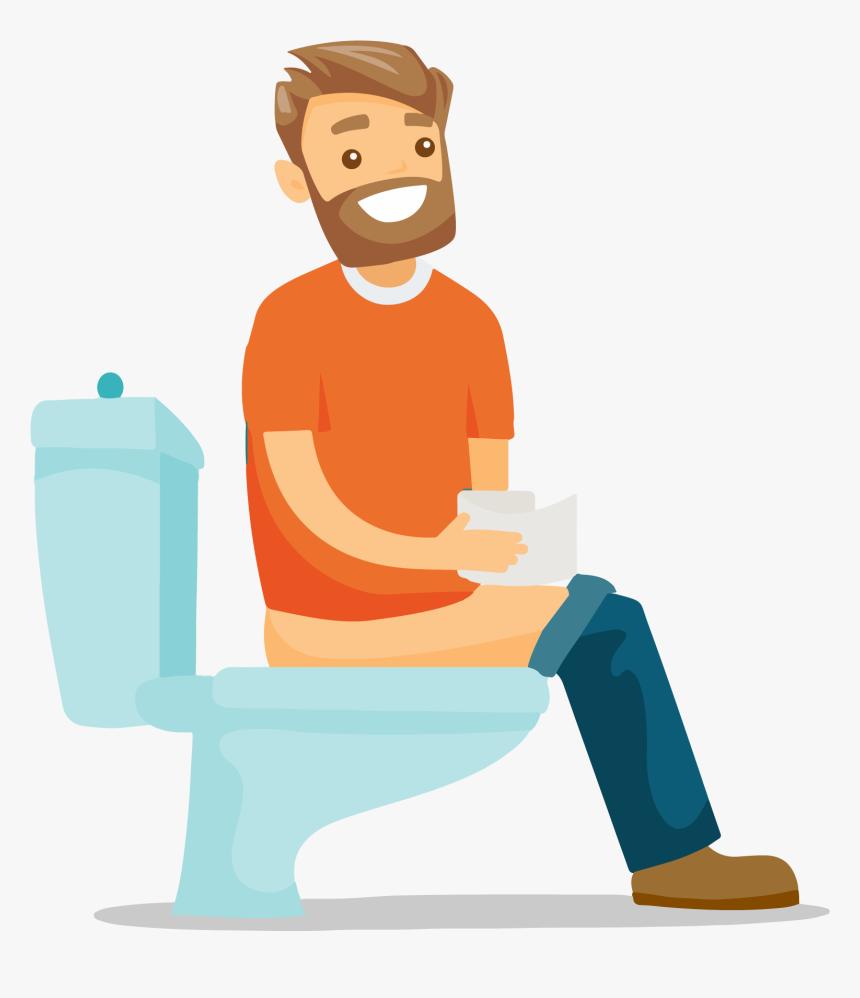 Cartoon Guy Sitting On Toilet Transparent Cartoons Sit On Toilet Clipart Hd Png Download Transparent Png Image Pngitem