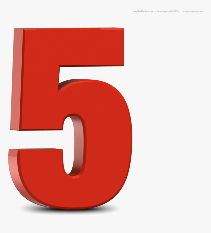 Number 5 PNG images free download