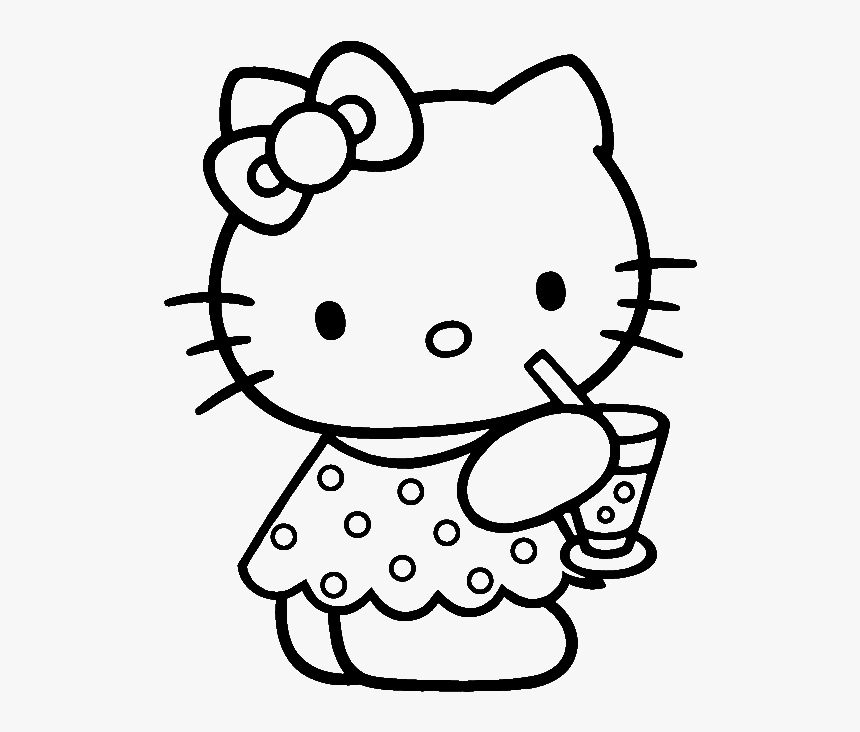 Hello Kitty Coloring Pages, HD Png Download , Transparent Png ...