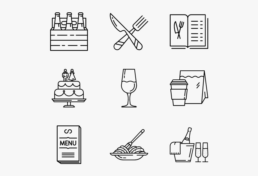 Burger Vector Icon Hitam Putih Kartun Makanan Dan Minuman Hd