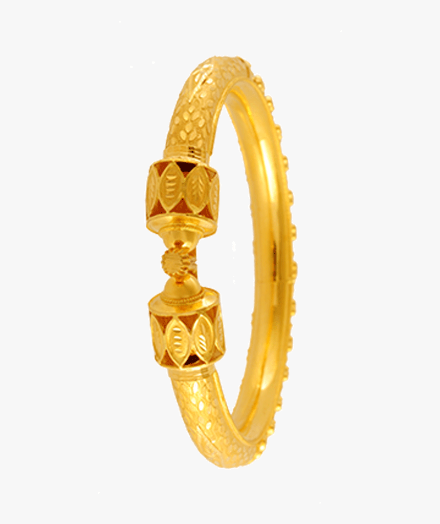 22kt Yellow Gold Bangle For Women Pc Chandra Jewellers Bala Collection Hd Png Download Transparent Png Image Pngitem