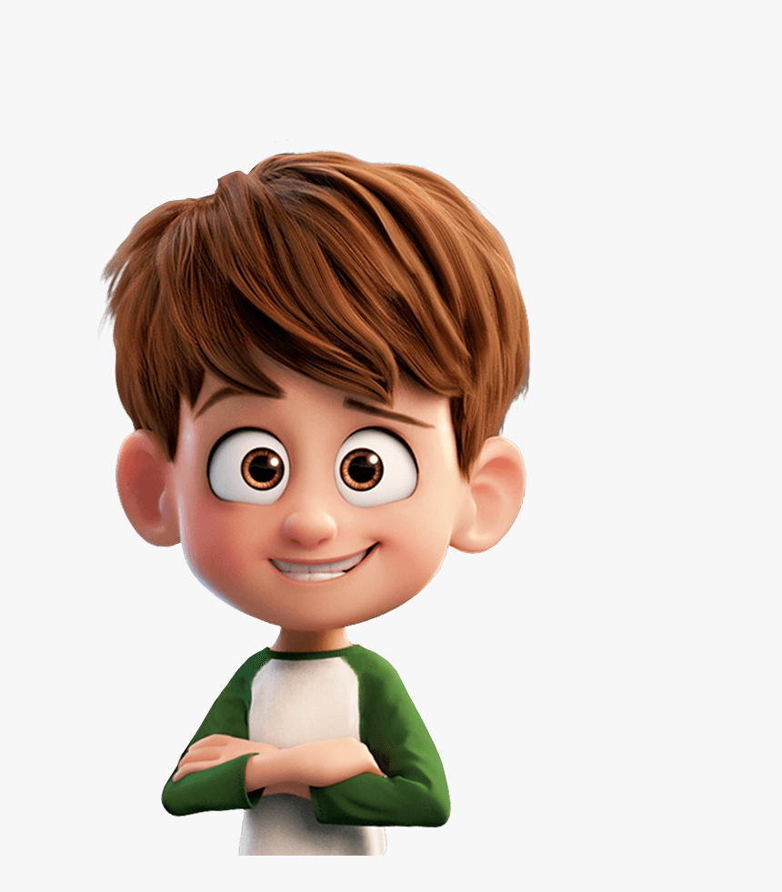 Brown Hair Cartoon Character Boy Cartoon Transparent Brown