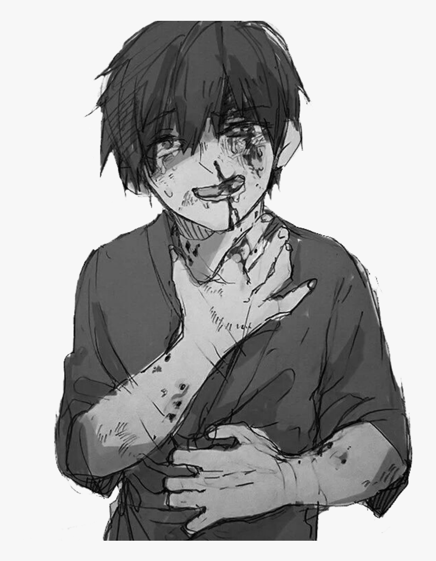 Anime Animeboy Sad Pain Edgy Gore Scary Idk Emo - Rwby X Abused