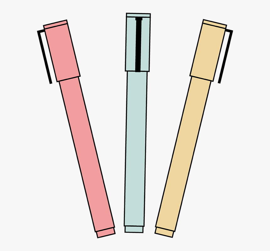 cute pen markers pens to write color drawing hd png download transparent png image pngitem cute pen markers pens to write