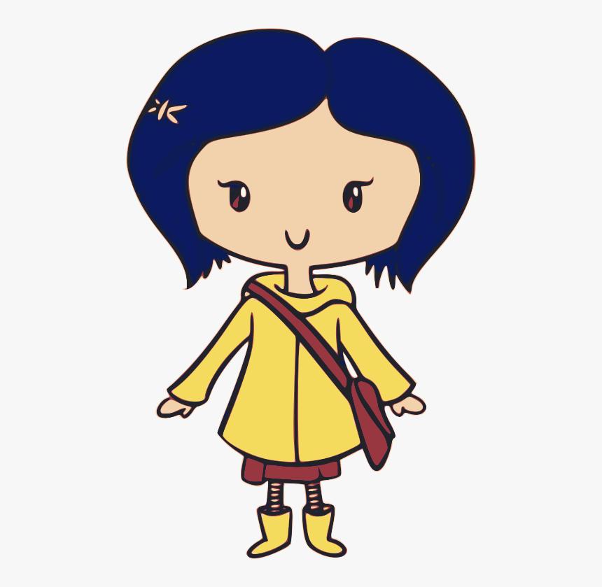 Coraline Clipart Png Download Coraline Yellow Raincoat Transparent Png Transparent Png Image Pngitem