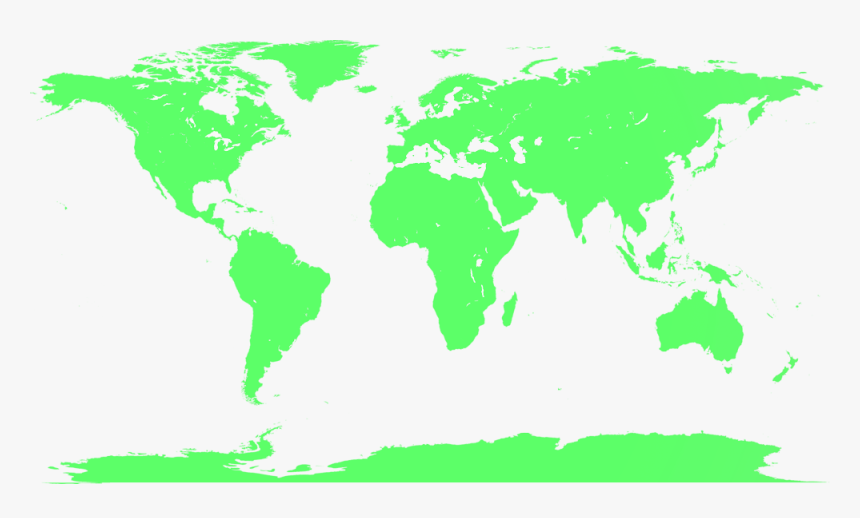 Blank World Map No Borders World Blank Map No Borders , Png Download   Full Size World Map