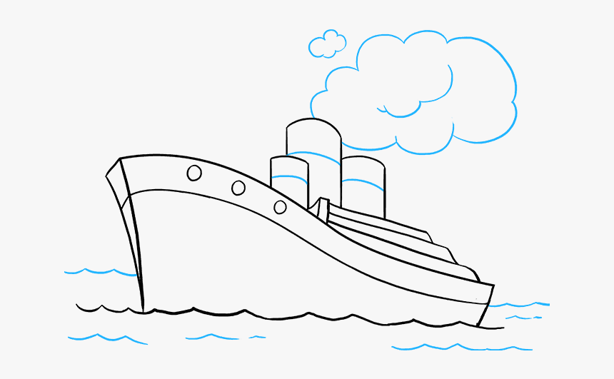 How To Draw Ship Water Transport Easy Drawing Hd Png Download