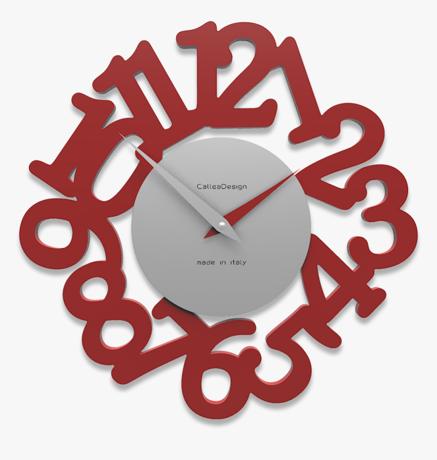 Picture Of Callea Design Modern Wall Clock Mat Ruby - Red ...