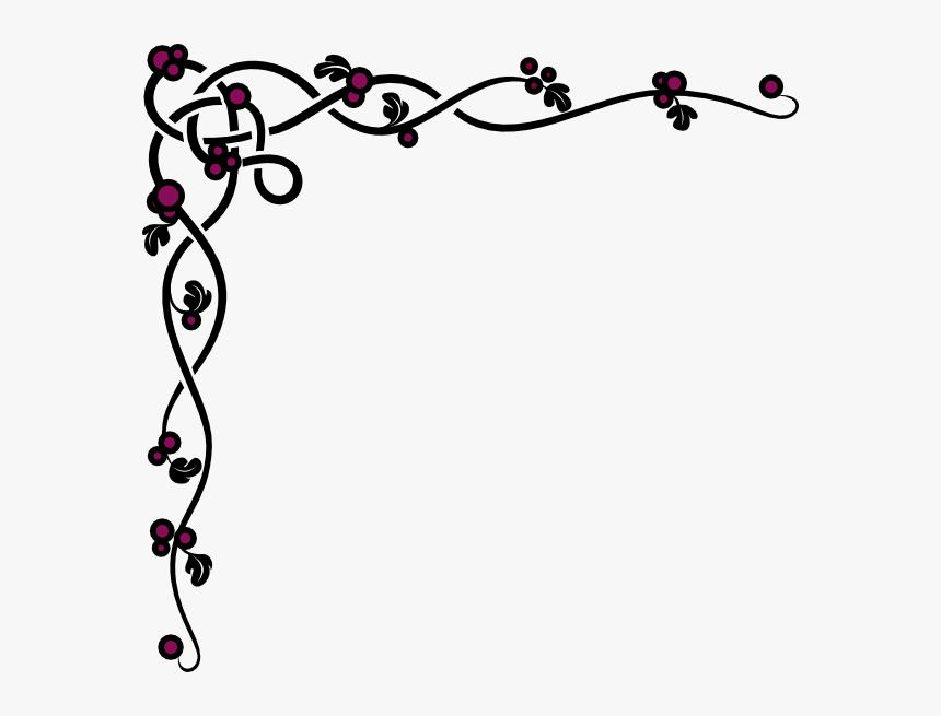 Clip art corner vine clipart | Clip art, Clipart black and white, Art corner