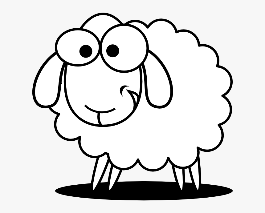 Sheep Clipart Black And White - Cute Sheep Coloring Pages ...