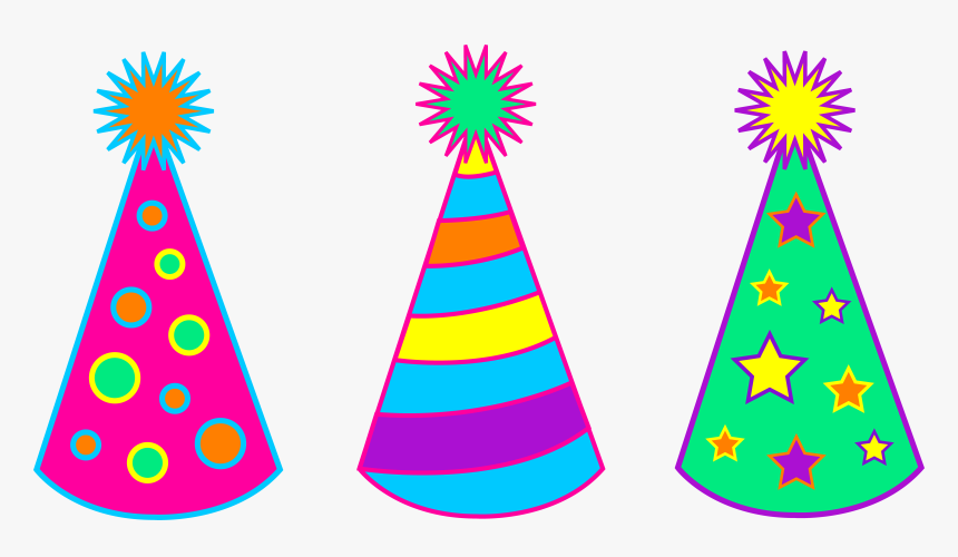 Party Hat Black And White Library Clipart Birthday - Black Party Hat Clipart,  HD Png Download - kindpng