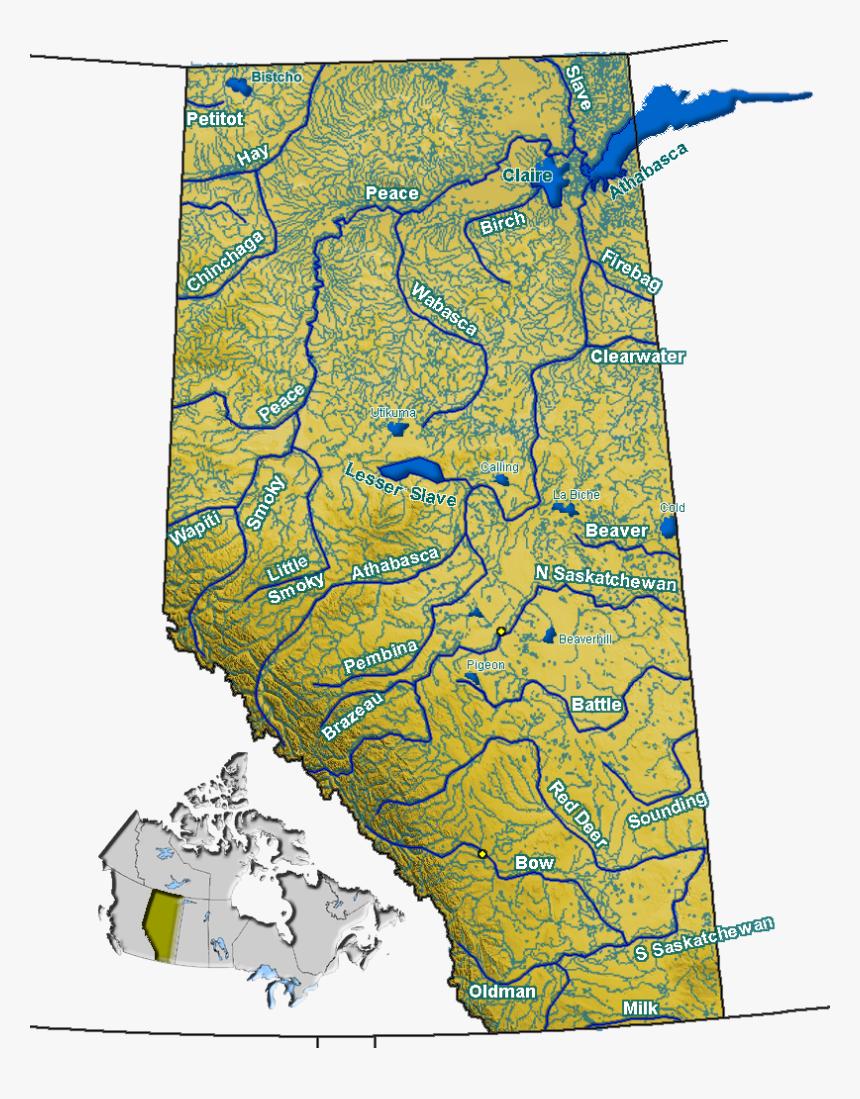 map of lakes in alberta Transparent Lake Water Clipart Map Of Alberta Lakes And Rivers map of lakes in alberta
