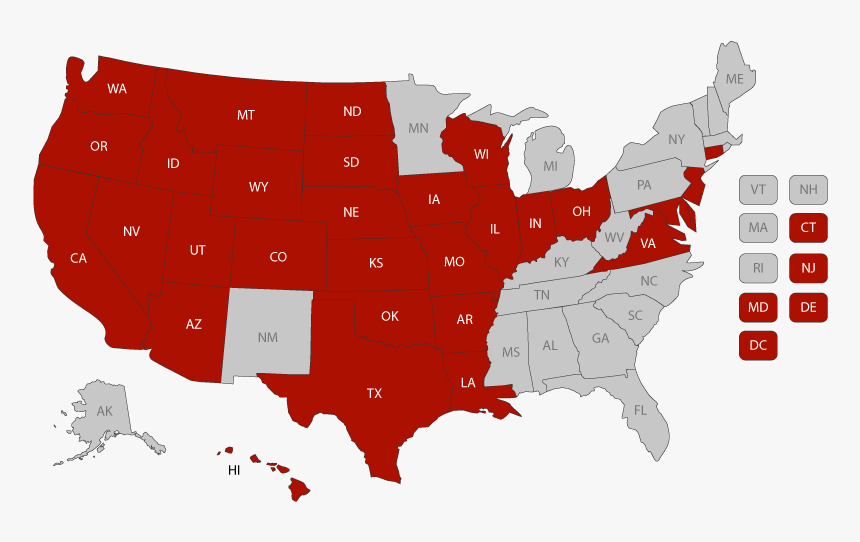 Map Of The United States - Death Penalty Usa, HD Png ...