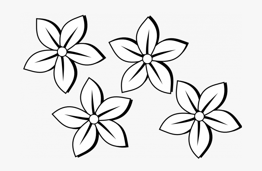 Permalink To 90 Ideas Flower Clip Art Black And White Easy Small Flower Drawings Hd Png Download Transparent Png Image Pngitem