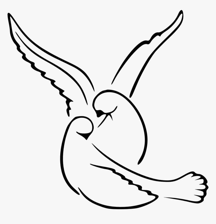 Simple Love Birds Drawing Hd Png Download Transparent Png Image Pngitem