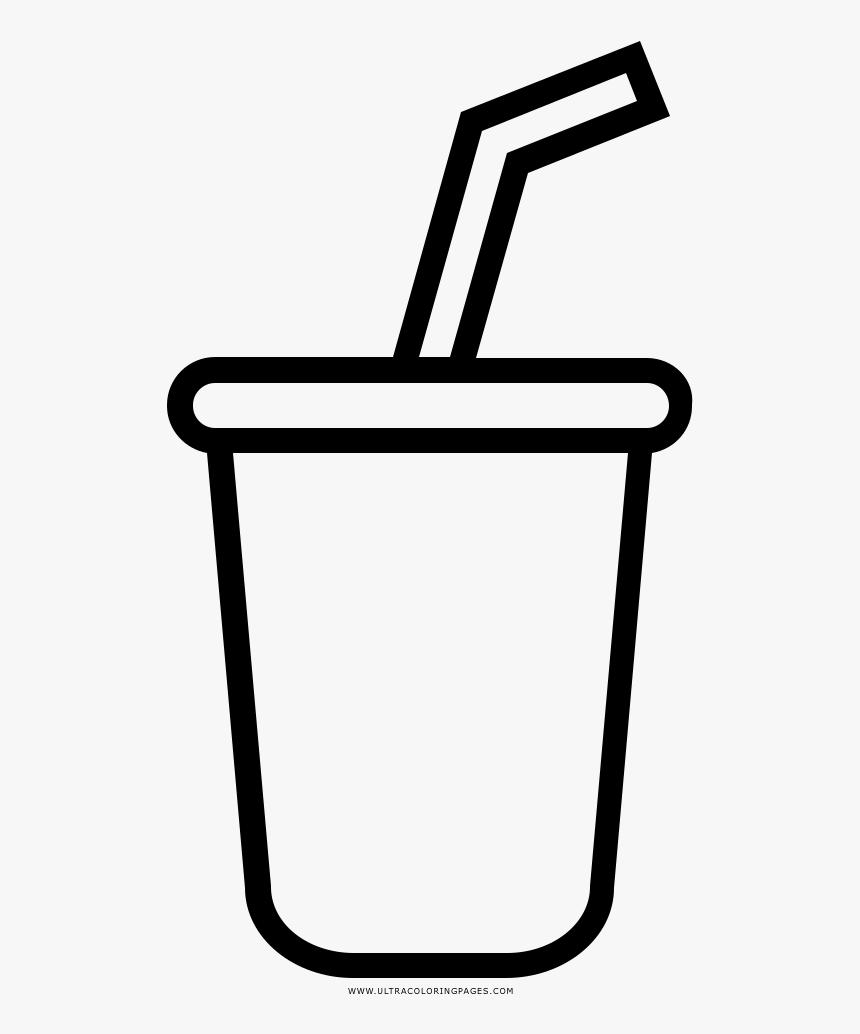 Soda Coloring Page Desenho De Refrigerante Para Colorir Hd Png