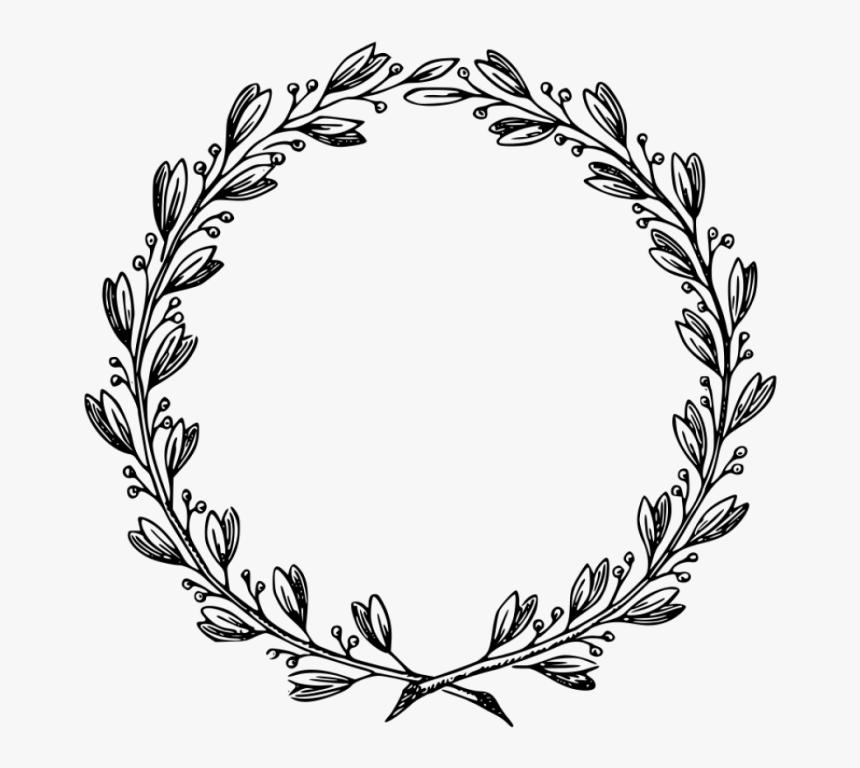 Art,line Art,flower,vascular Plant,interior Design - Clipart Black And  White Leaves Border, HD Png Download , Transparent Png Image - PNGitem