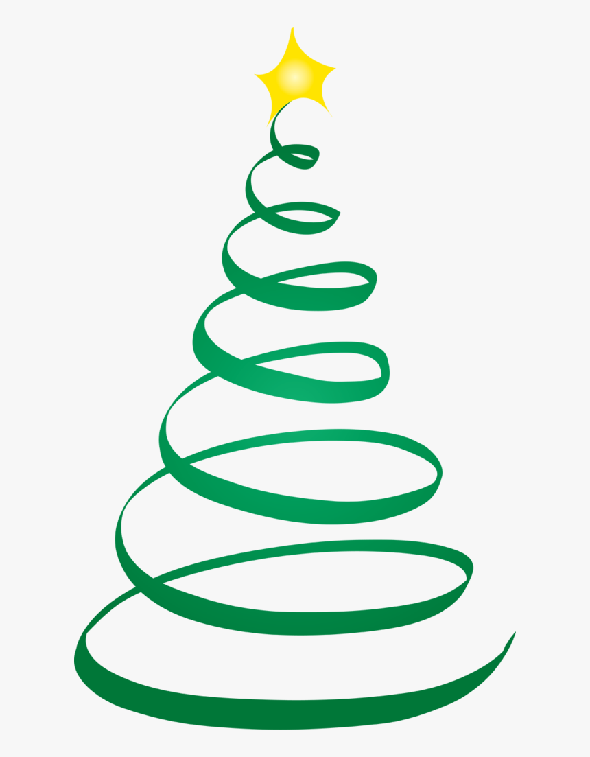 Swirly Christmas Tree Svg Free, Png