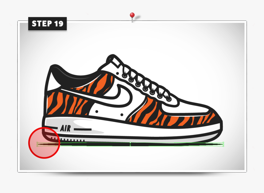 patrocinador Inflar rizo  Draw Shoes Nike - Air Force Ones Drawing Easy, HD Png Download ,  Transparent Png Image - PNGitem