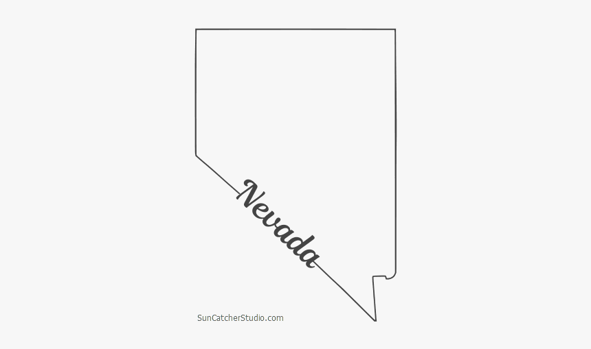 Free Nevada Outline With State Name On Border Cricut Nevada Shape Hd Png Download Transparent Png Image Pngitem
