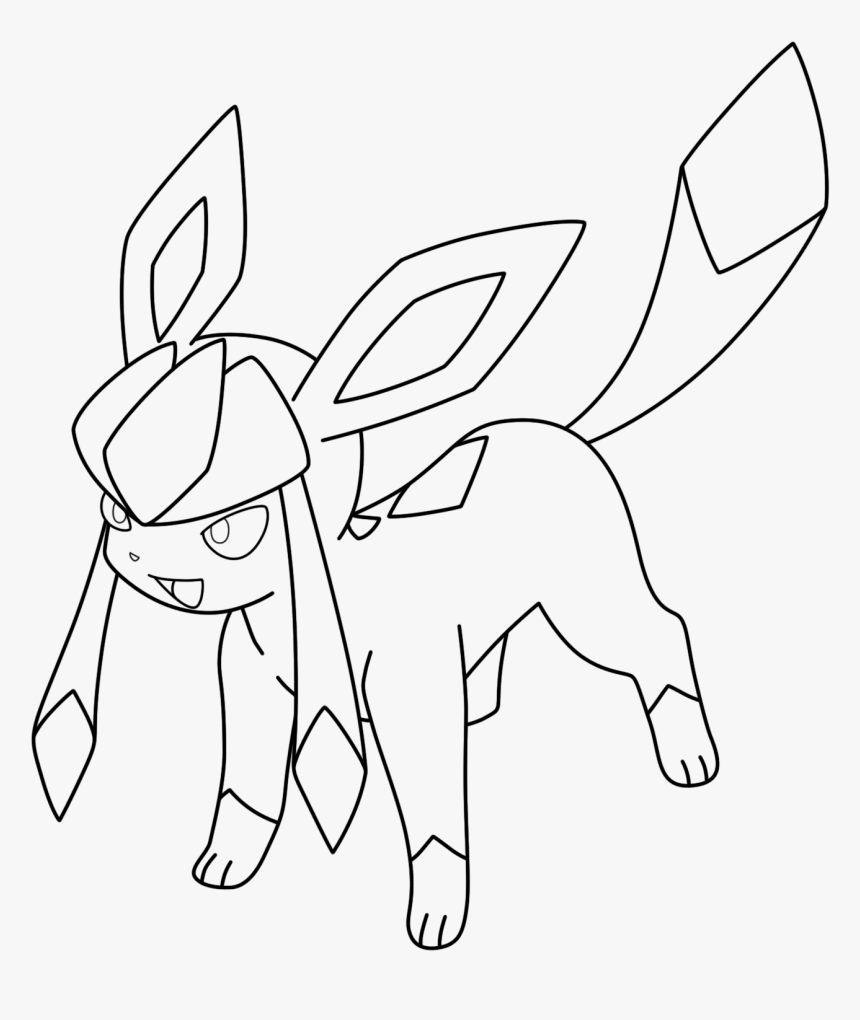 mike evans lineart glaceon pokemon eevee evolutions coloring pages hd png download transparent png image pngitem mike evans lineart glaceon pokemon