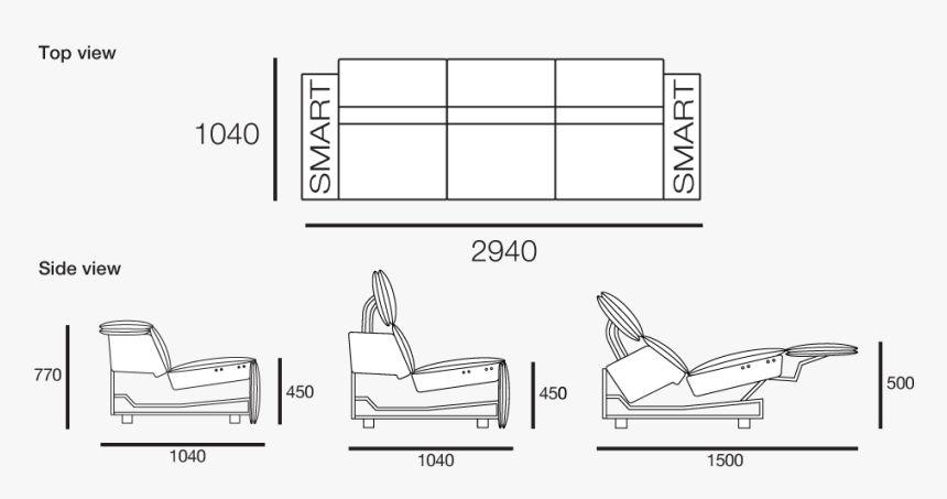 View All Configurations Sofa Drawing From Side Hd Png