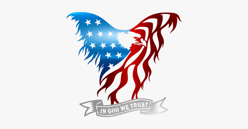 Bald Of The Clip Art - Transparent Eagle American Flag - Png Download  (#1338980) - PinClipart