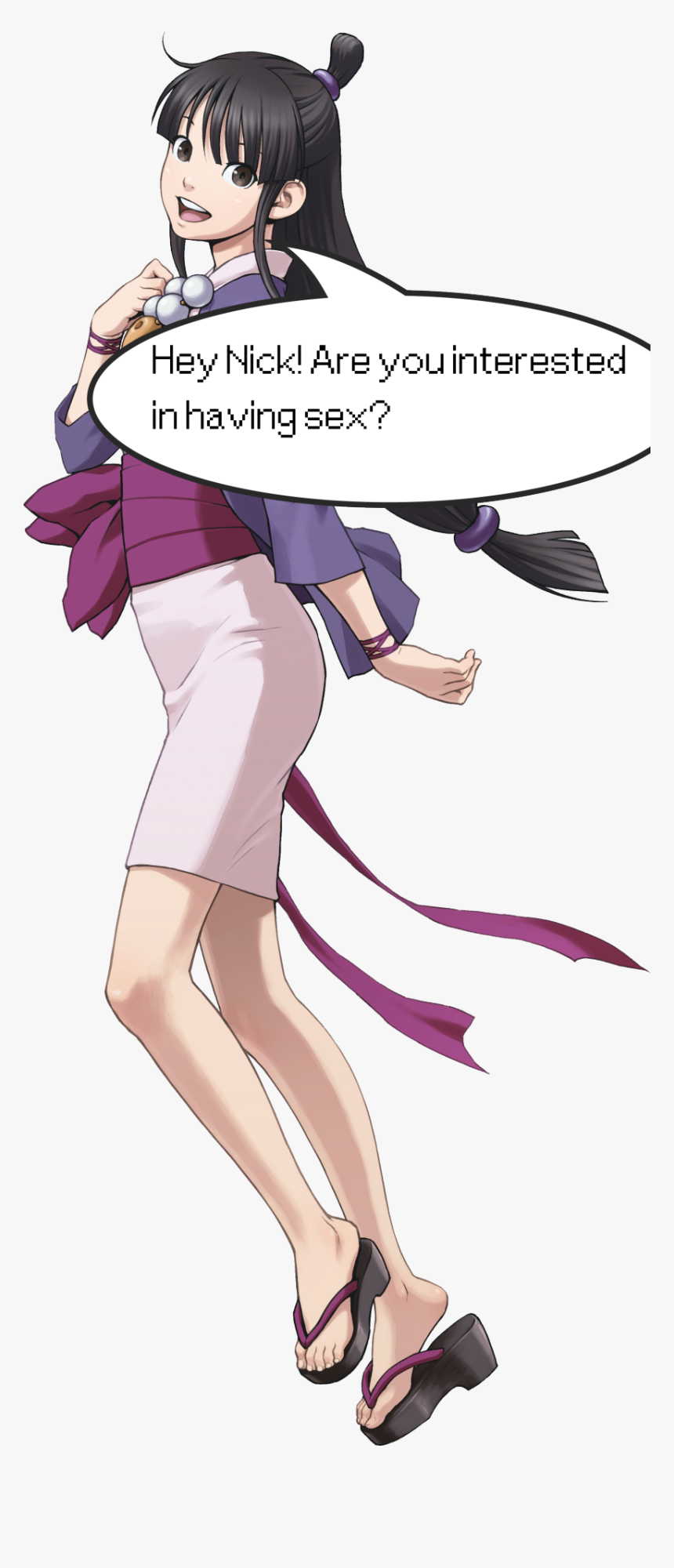 Image Maya Ace Attorney Official Art Hd Png Download