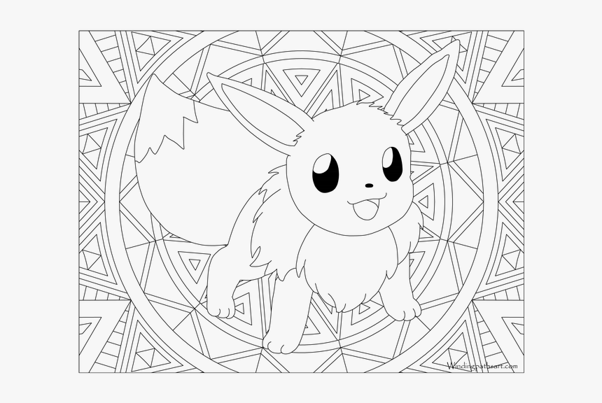 Adult Pokemon Page Eevee Eevee Pokemon Coloring Pages Hd Png Download Transparent Png Image Pngitem