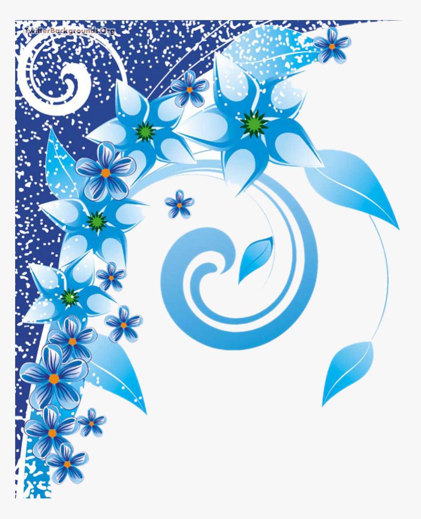 Floral Swirls Photoshop Background Png Blue Floral Background