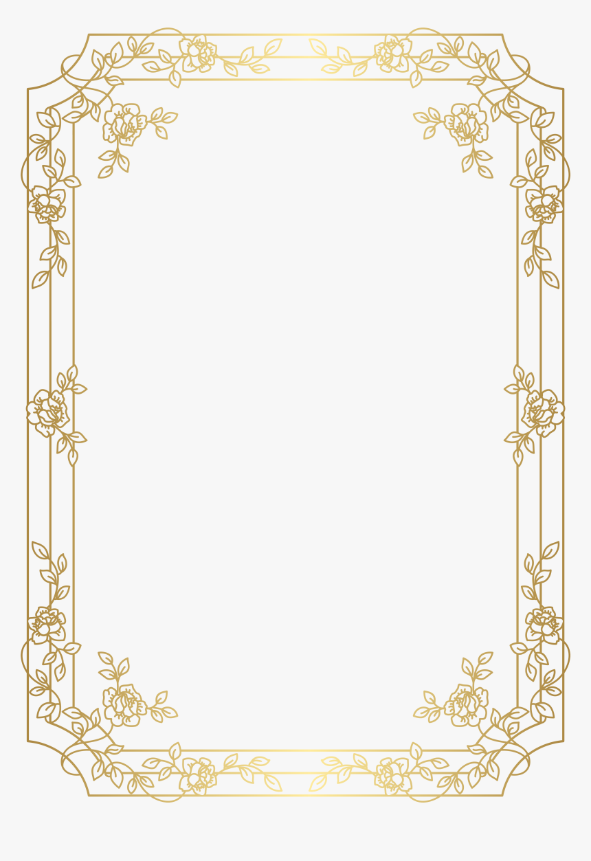 art deco frame png frame deco border red gold free hd image clipart - art deco