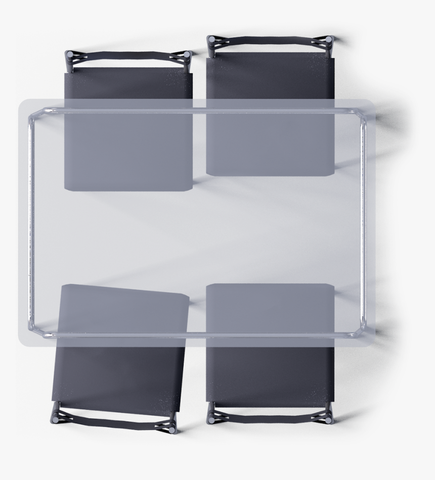 Glass Dining Table Top View Hd Png Download Transparent Png