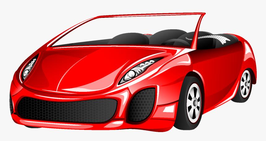 Elemento De Carro Esportivo Vermelho Dos Desenhos Animados