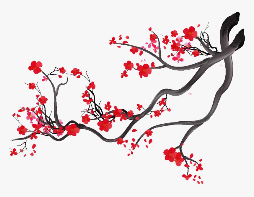 Stickers Branche De Cerisier Japonais Hd Png Download Transparent Png Image Pngitem