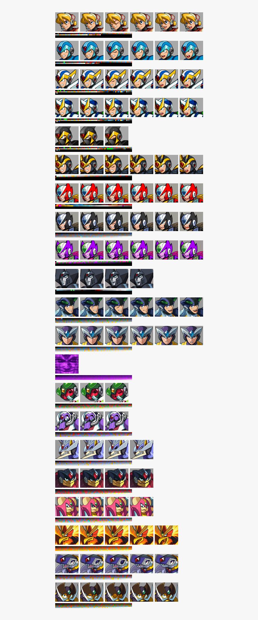 Megaman X6 Zero Mugshot Hd Png Download Transparent Png Image Pngitem