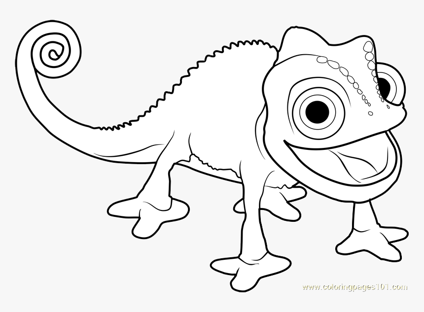 Pascal Tangled Coloring Pages Hd Png Download Transparent Png