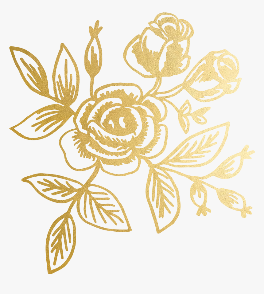 Transparent Gold Floral Pattern Png Download Transparent