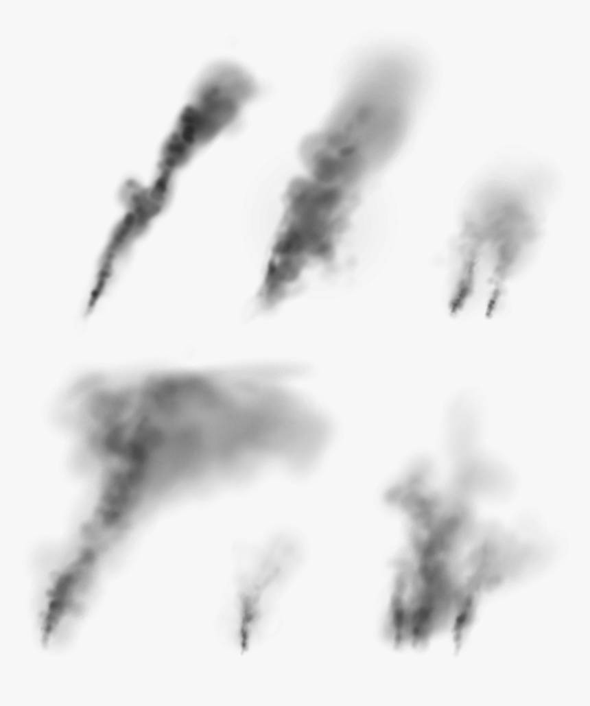 Clouds Smoke Plumes Collection Monochrome Hd Png Download Transparent Png Image Pngitem