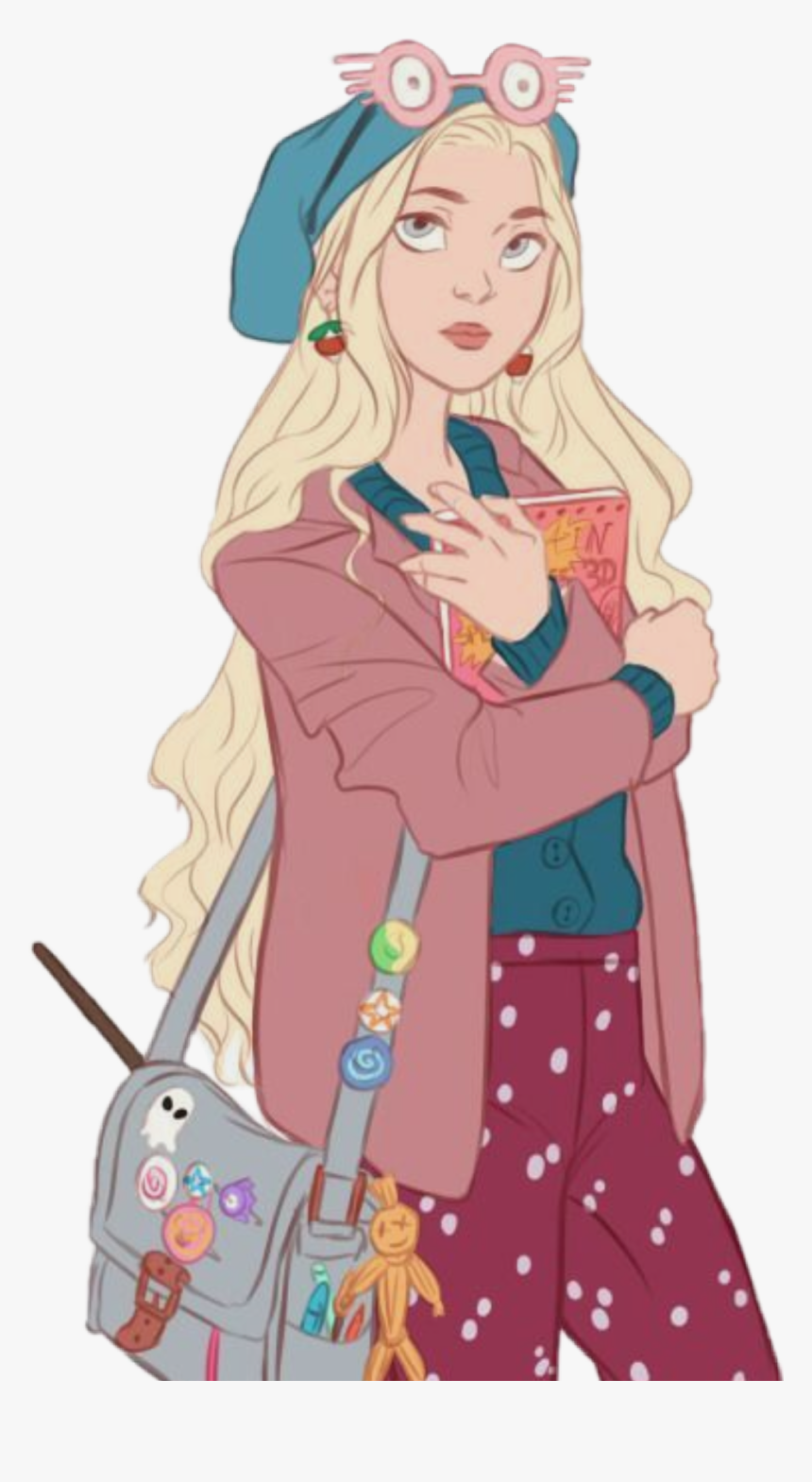 Luna Lovegood Lunalovegood Ravenclaw Hogwarts Luna Lovegood Fan Art Hd Png Download Transparent Png Image Pngitem