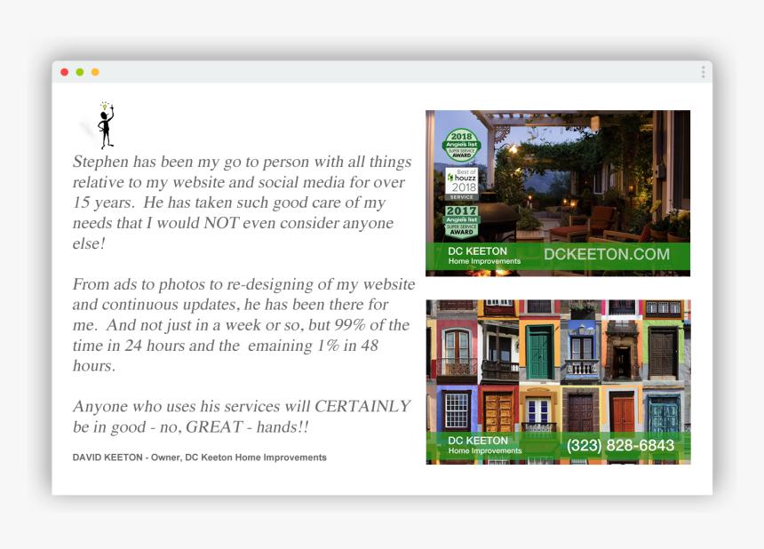 Dc Keeton Home Improvements Television Spot Online Advertising Hd Png Download Transparent Png Image Pngitem