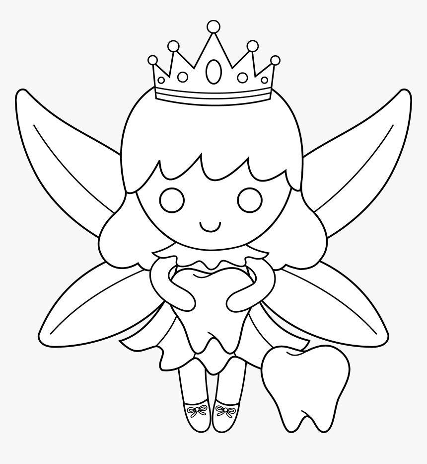 Fairies Clipart Printable   Tooth Fairy Colouring Pages, HD Png ...