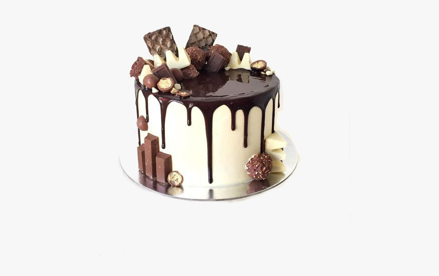 Birthday Chocolate Explosion Cake Hd Png Download