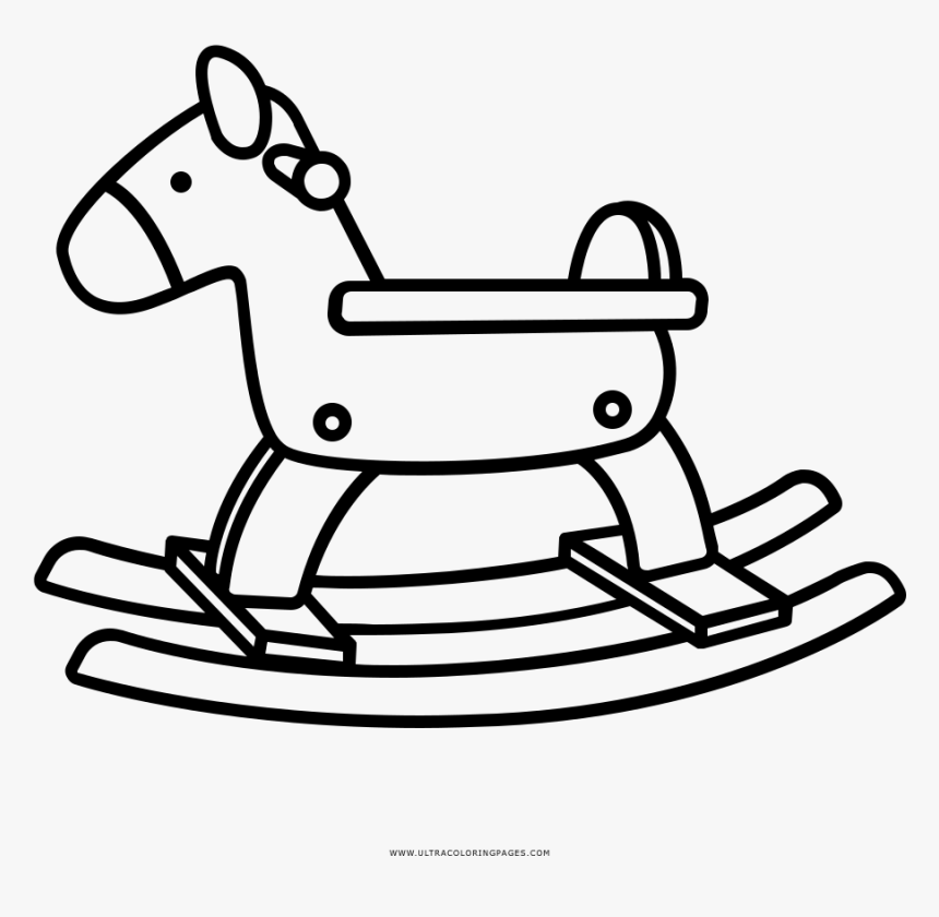 Rocking Horse Coloring Page - Horse, HD Png Download ...