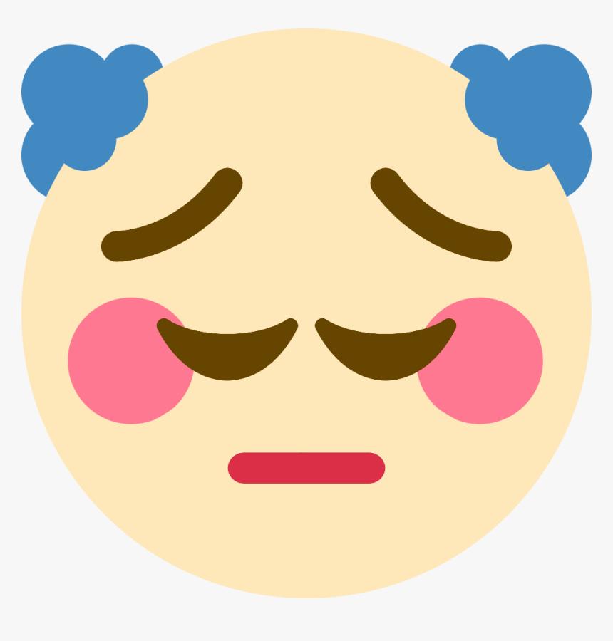 Pensive Clown Discord Emoji Pensive Discord Emoji Hd Png Download Transparent Png Image Pngitem