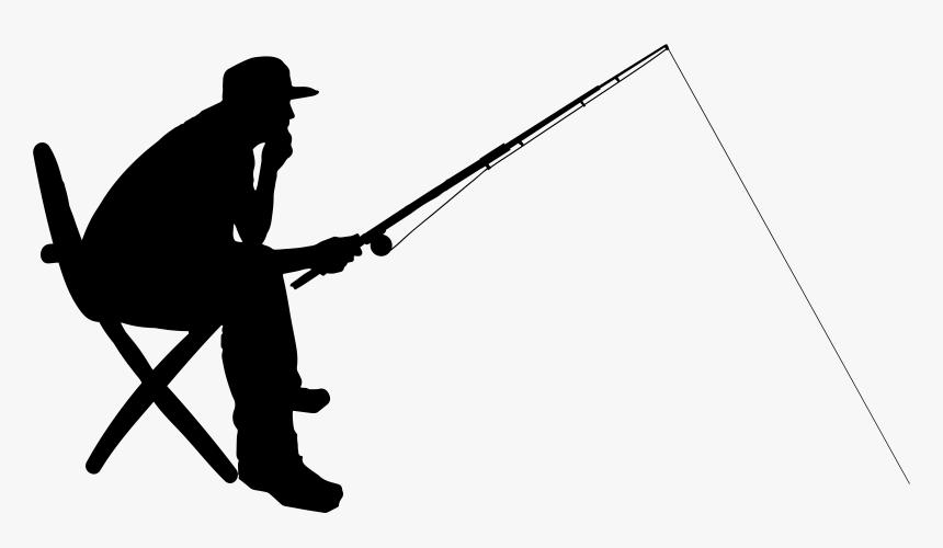 Transparent Fishing Pole Clipart Png Fishing Silhouette Png Png Download Transparent Png Image Pngitem