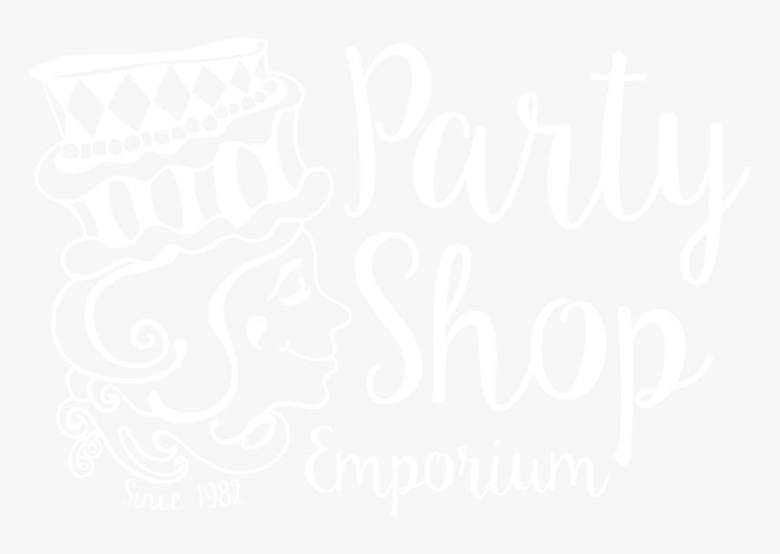 Party Shop Emporium Tottenham Logo White Png Calligraphy Transparent Png Transparent Png Image Pngitem