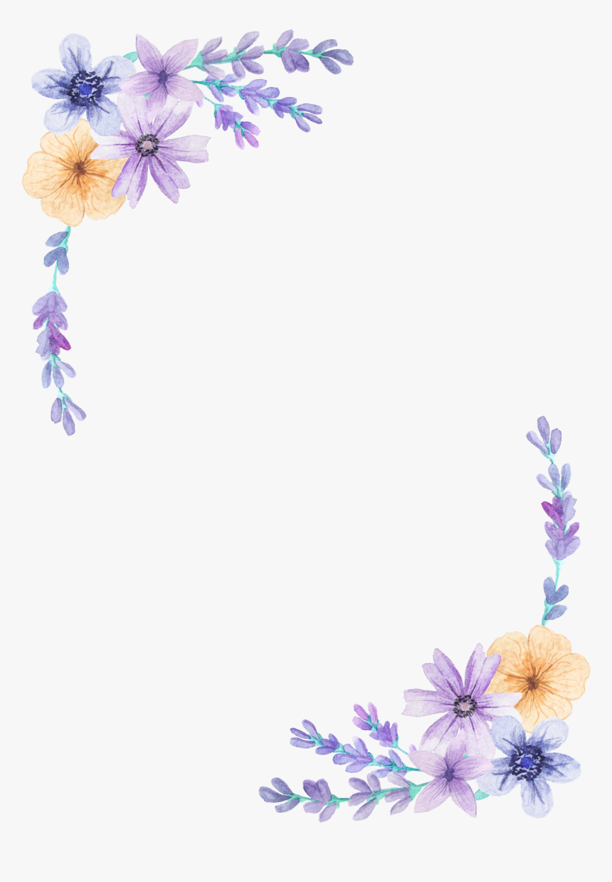 Pin By Gunn Torp On Clips Border Purple Floral Background Hd